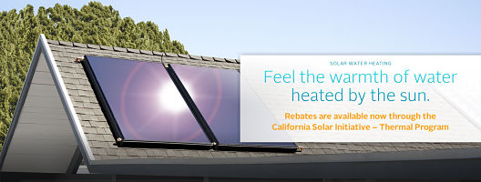 Solar Hot Water rebates for California homes